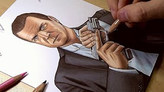 Drawing Michael from GTA V