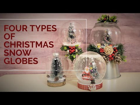 Four DIY Christmas Snow Globes From Dollar Tree Items