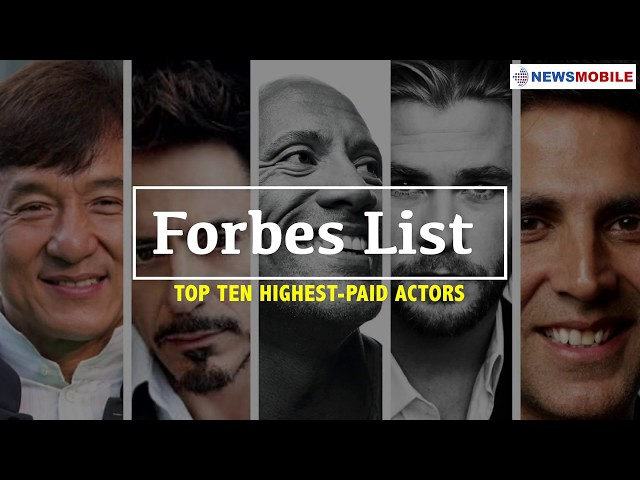 Meet the highest paid actors in the world