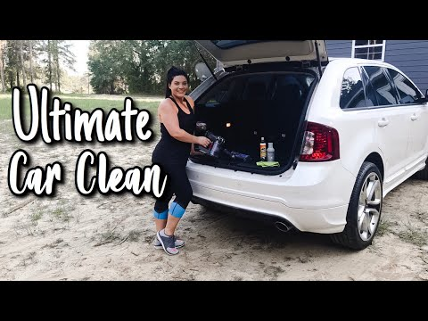 ULTIMATE CAR CLEAN | DEEP CLEANING MY CAR | CAR CLEANING MOTIVATION