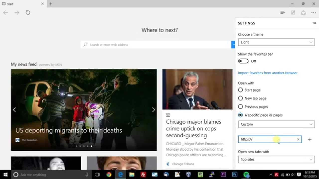 """How To Change Home Page On """"Edge"""" Browser"""
