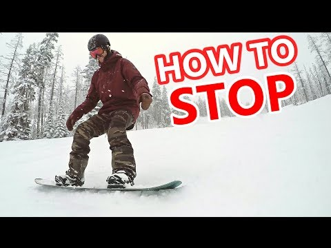 How To Stop On A Snowboard - Beginner Tips