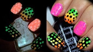 Rainbow Glow in the Dots Nail Art ft Born Pretty & Sally Hansen Thumbnail