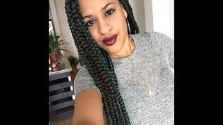 Triangle Parted BOX BRAIDS (easy)