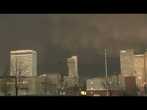 Severe Weather in Tulsa, Sirens Sounding