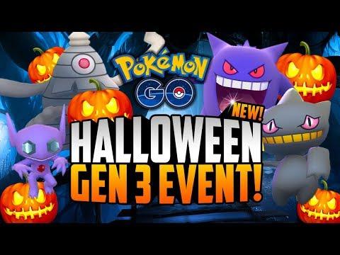 Pokemon Go - GEN 3 IS HERE! (HALLOWEEN + GENERATION 3 EVENT!)