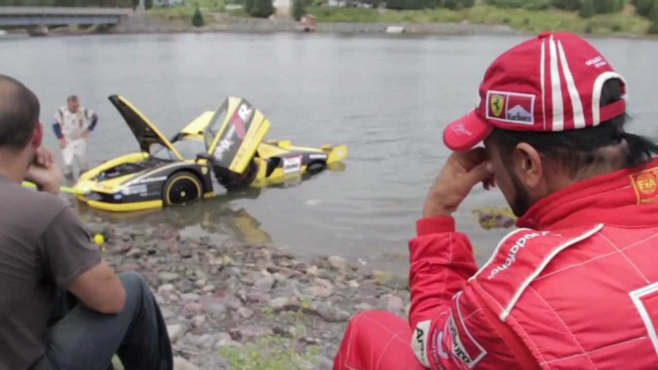 Ferrari Enzo Fxx Crash Into Fence And Lands In Ocean