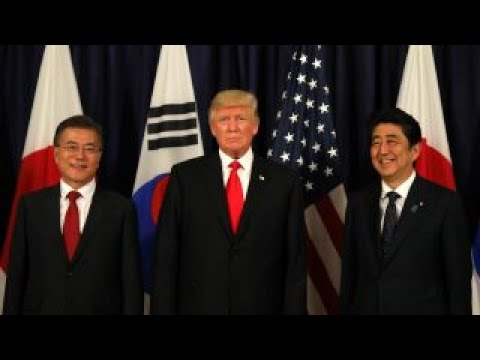 Trump meets with South Korea and Japan to talk North Korea