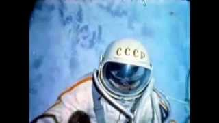 Rare color footage of first spacewalk, Alexey Leonov, March 18, 1965