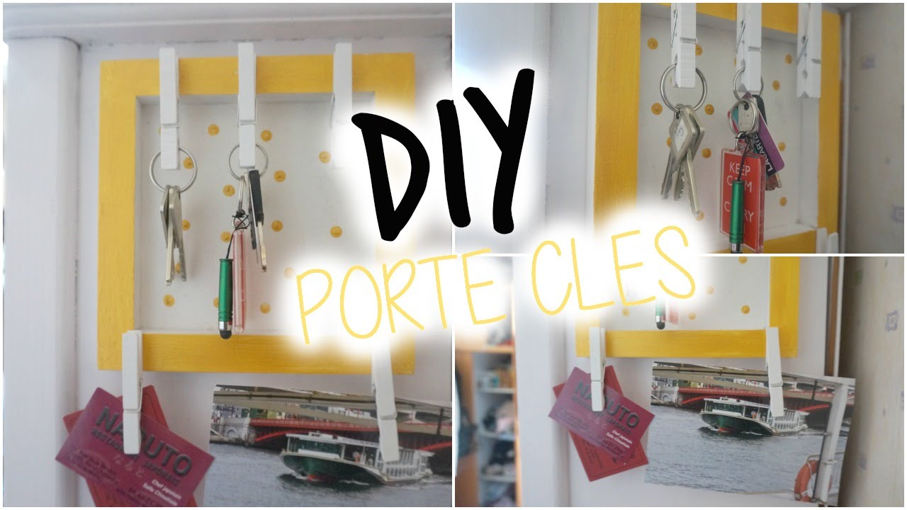 diy porte cl mural i diy fran ais youtube. Black Bedroom Furniture Sets. Home Design Ideas