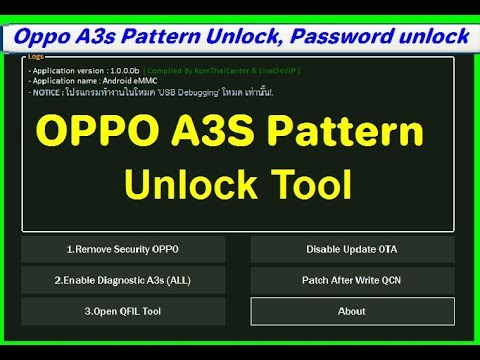 OPPO A3S All Security Unlock Tools Pin Password Network Unlock Latest