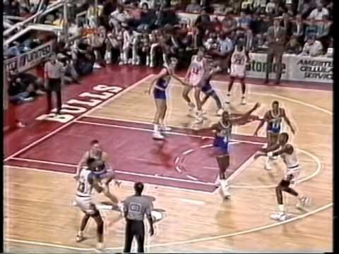 Apr 3, 1990 Bulls vs Pacers highlights