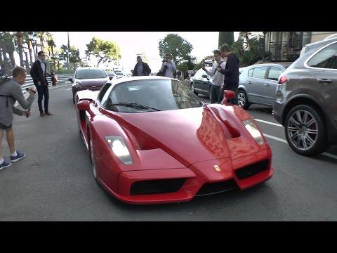 Ferrari Enzo REVS In Casino Square Monaco!!