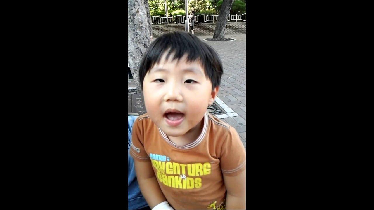 5세 ~해바라기유치원 햇살반 백민재 인절미와 총각김치 노래 - YouTube