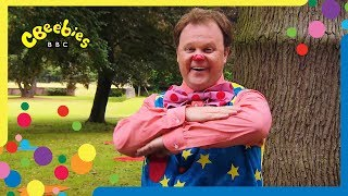 Mr Tumble wants to play on the seesaw with Tumble Ted but Mr Tumble...