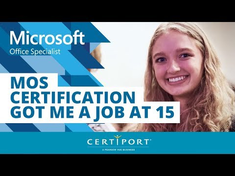 MOS Certification Got Me A Job At 15