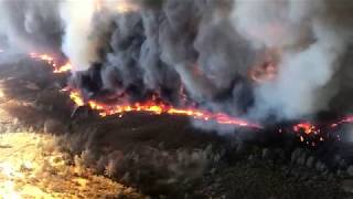Aerial Footage Shows Scale of California's Detwiler Fire