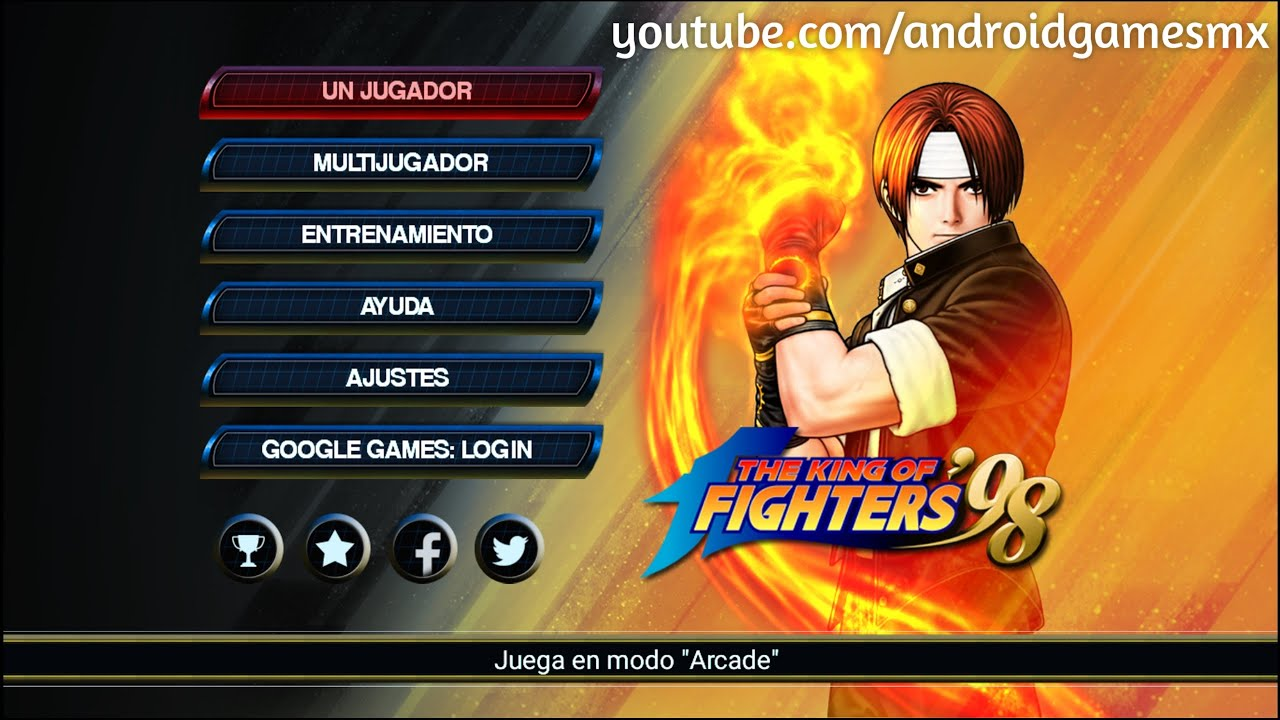 The King Of Fighters '98 Para Android [El Juego Oficial] Excelente ...The King Of Fighters '98 Para Android [El Juego Oficial] Excelente Juego -  YouTube