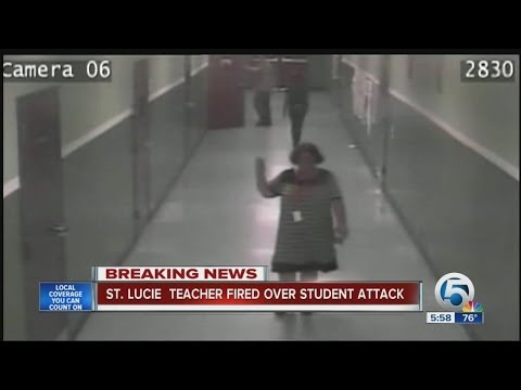 St. Lucie teacher fired over student attack