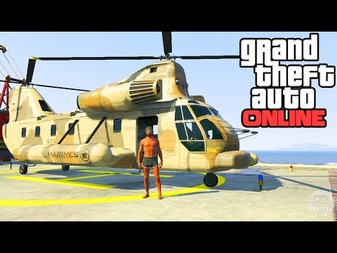 GTA Online: Cargobob Location! How To Get A Cargobob Chinook Helicopter & Pick Up Cars(GTA 5 Online)