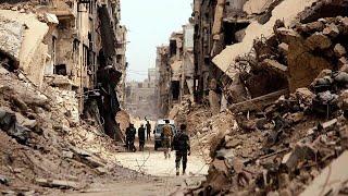 بالفيديو: الدمار في مخيم اليرموك يحول دون عودة اللاجئين الفلسطينيين إليه…
