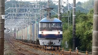 JR貨物 山陽本線不通1ヶ月前の朝の定番貨物列車5本 2018/06/09