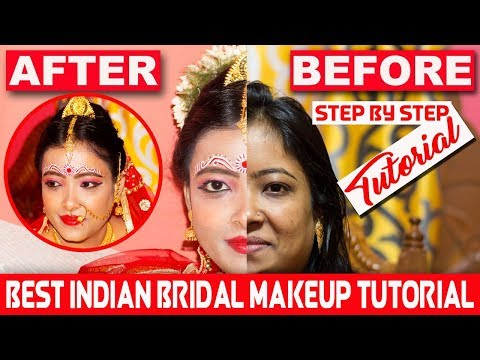 Indian Bridal Makeup Tutorial | Bengali Bridal FULL MAKEUP With Step By Step - दुल्हन का मेकअप