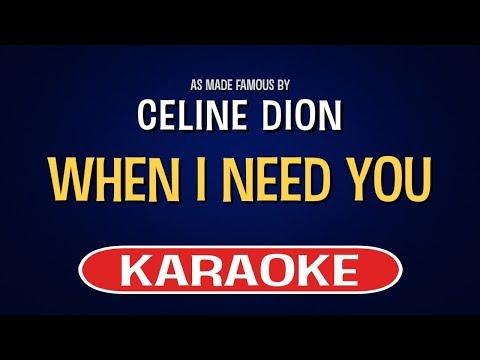 When I Need You - Celine Dion (Karaoke Version) | TracksPlanet