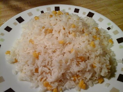 Arroz Blanco Con Maize ' White Rice With Corn '  ( Spice Up Your White Rice)