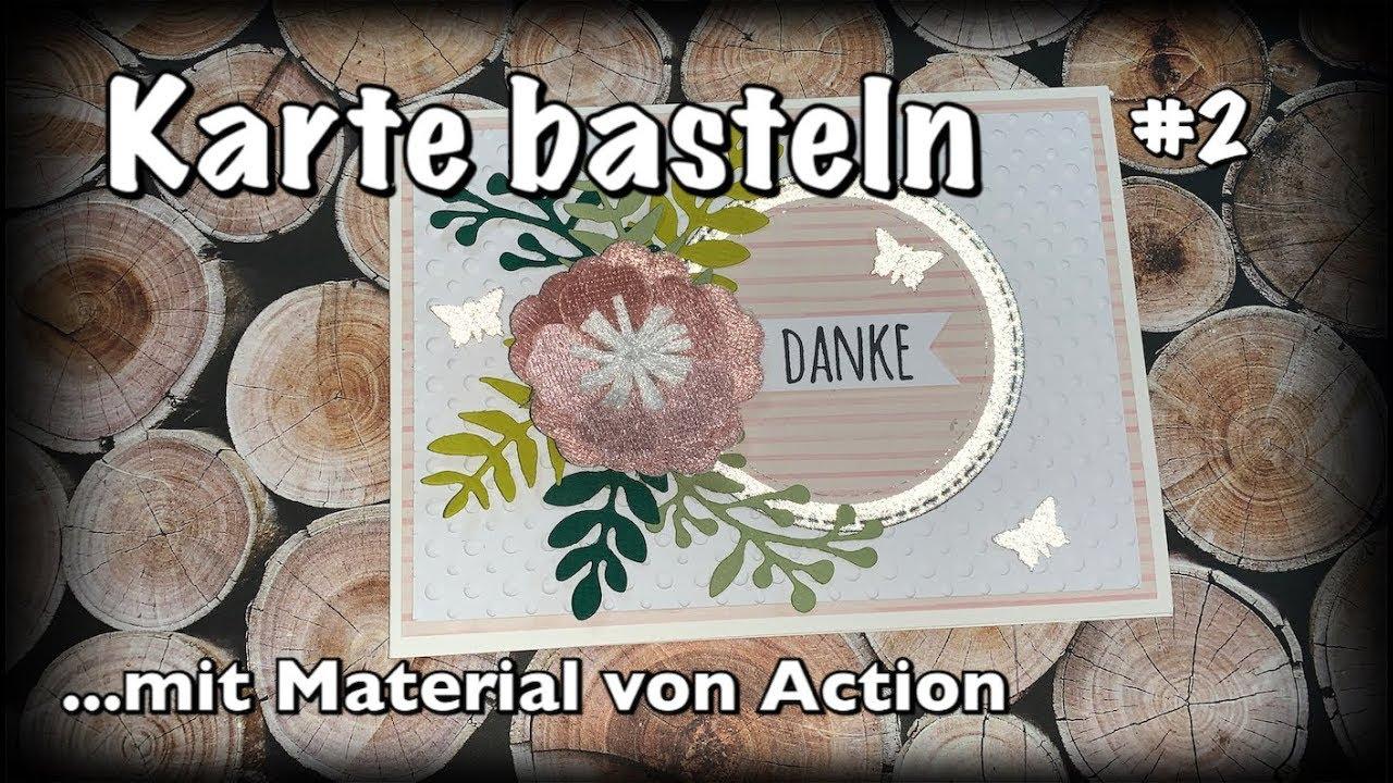 tutorial anleitung karte basteln deutsch mit action. Black Bedroom Furniture Sets. Home Design Ideas