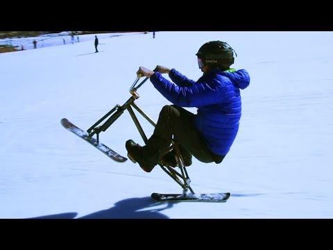 Skiing On A Bike