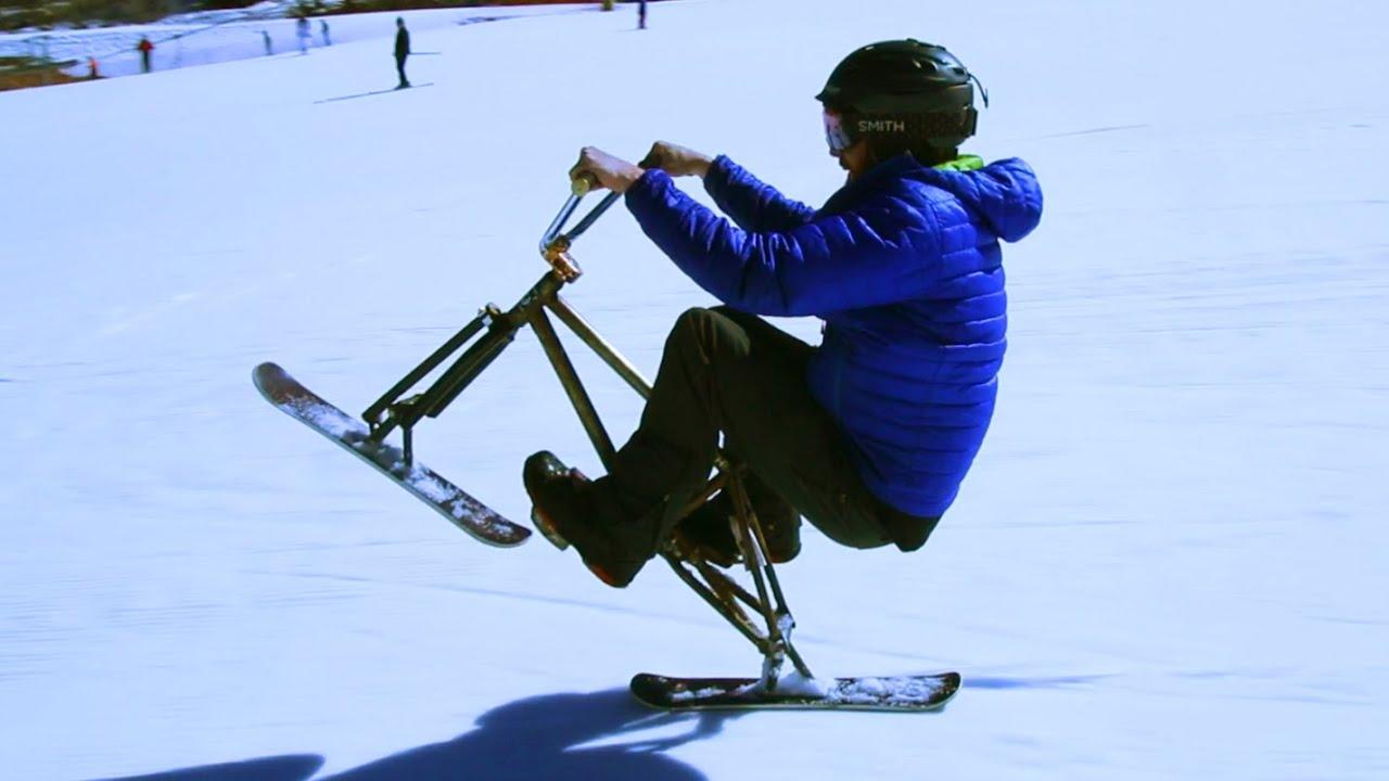 9cb04415792 Skiing On A Bike - YouTube