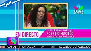 Comunicación con la Vicepresidenta Compañera Rosario Murillo, 15 de Octubre de 2018