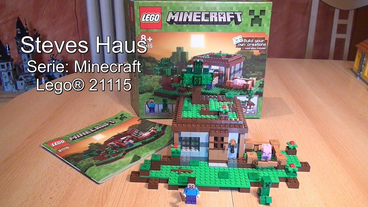 Test Steves Haus The First Night LEGO Minecraft Set Review - Lego minecraft haus bauen anleitung