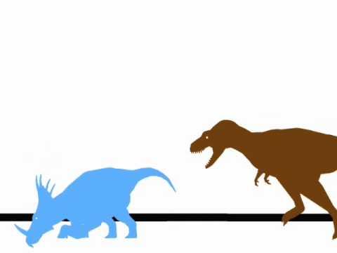 Jurassic World - Styracosaurus vs Albertosaurus