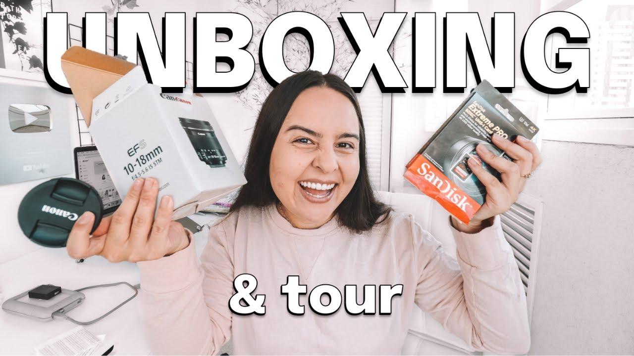 EQUIPAMENTOS NOVOS PARA O CANAL: Unboxing E Tour Atualizado De Tudo Que Uso Para Criar Meus Vídeos