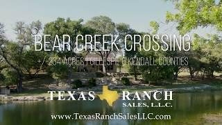 Bear Creek Crossing | Texas Ranch Sales, LLC
