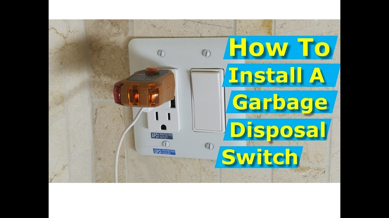 How To Install Garbage Disposal Switch Dual Electrical Outlet Box Youtube