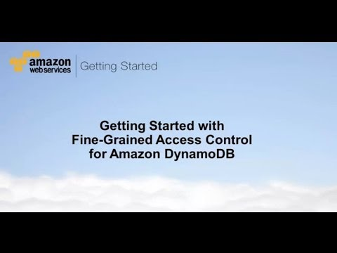 Getting Started with Fine-Grained Access Control for DynamoDB