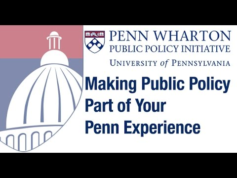 Webinar: Making Public Policy Part of Your Penn Experience