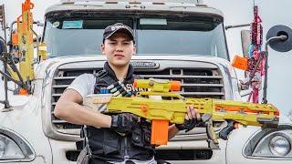 LTT Game Nerf War : Couple Warriors SEAL X Nerf Guns Fight Braum Crazy Wanted Criminals