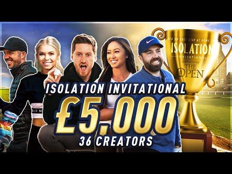 HUGE £5,000 YOUTUBER GOLF TOURNAMENT - THE ISOLATION INVITATIONAL EP1 #StayAtHomeTour