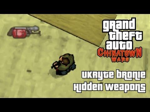 GTA Chinatown Wars - Ukryte bronie / Hidden weapons (PSP)