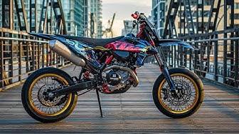 Das Design ist drauf! | KTM EXC 500 legaler Supermoto Build!
