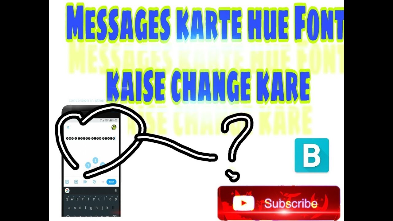How to snd mesage in stylsh Font in Any apk without Root | Blueword | Mr  Techno Youtuber | Android |