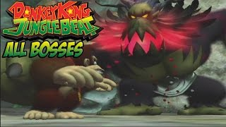 Donkey Kong Jungle Beat - All Bosses