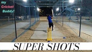 cricket | practice batting in nets | cricketing shots in nets | super shots in nets | batting video!