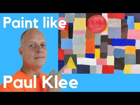 Paint Like Paul Klee Castle And Sun - Paul Klee Art Lesson