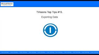 TVisions Top Tips #15: Exporting Data Microsoft Dynamics NAV 2017