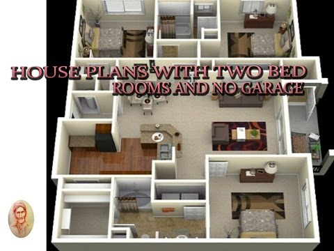 house plans with two bed rooms and no garage - youtube